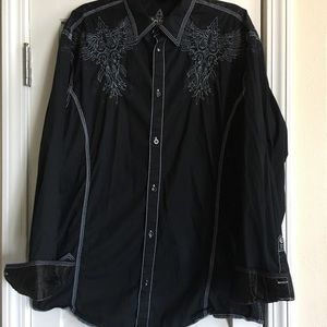 Roar Men's Button Down Embroidered Shirts SZ XXL